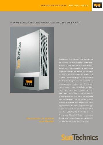 WECHSELRICHTER TECHNOLOGIE NEUESTER STAND ...