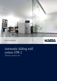 Automatic sliding wall system STW-2 - Seca Solutions