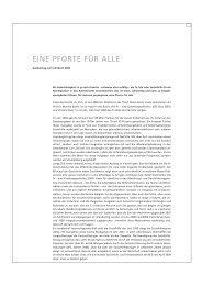 EINE PFORTE FÜR ALLE - Sozialhilfe