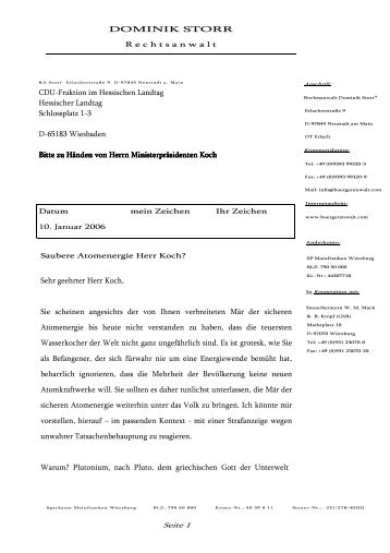 Saubere Atomenergie Herr - Dominik Storr