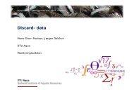 Discard- data - Fiskepleje