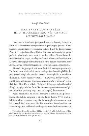 Martynas Liudvikas Rėza ir jo - Lietuvių literatūros ir tautosakos ...