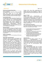 Datenschutz & Einwilligung - Stornopool