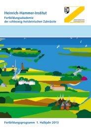1. Halbjahr 2013 - Zahnärztekammer Schleswig-Holstein