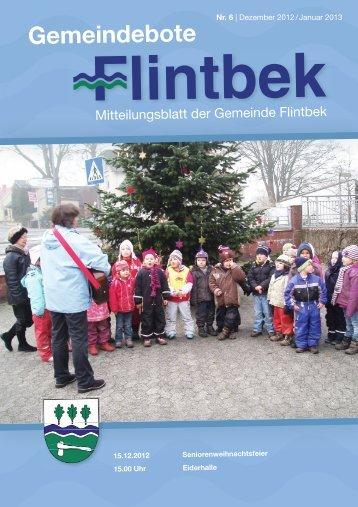 Ausgabe 6/12 Teil 1 - Gemeinde Flintbek