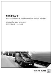 Preise Trafic Kastenwagen - bei Renault Brigittenau