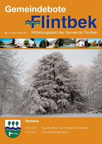 Gemeindebote - Gemeinde Flintbek
