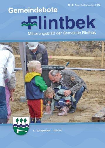 Ausgabe 4/12 Teil 1 - Gemeinde Flintbek