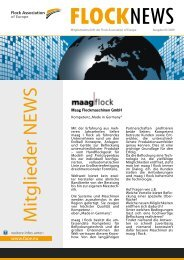 Maag Flockmaschinen GmbH 2009 01 - Flock association of europe
