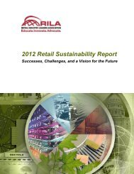2012 Retail Sustainability Report - Retail Industry Leaders Association