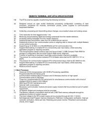 REMOTE TERMINAL UNIT (RTU) SPECIFICATIONS - SLDC