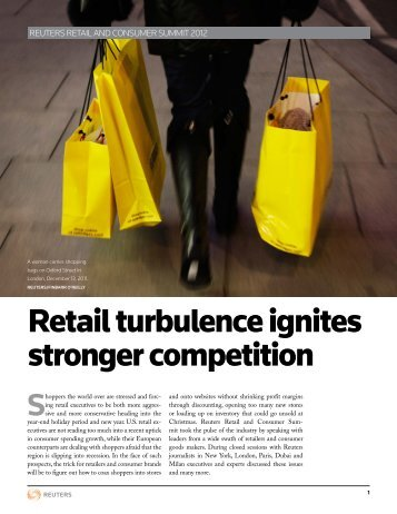 Retail turbulence ignites stronger competition - Thomson Reuters