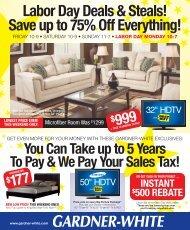 FREE HDTV - Gardner-White Furniture