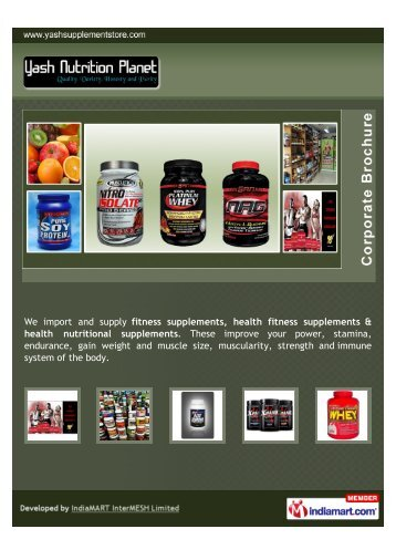 We import and supply fitness supplements, health fitness ...