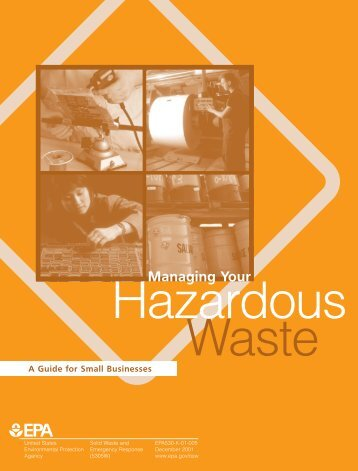 Managing Hazardous Waste - US Environmental Protection Agency
