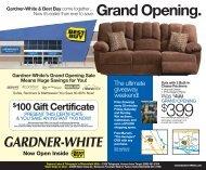 Grand Opening. - Gardner-White Furniture