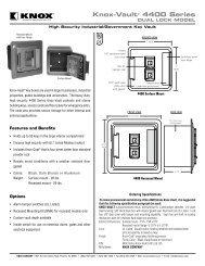4400 series dual lock spec sheet - knox box