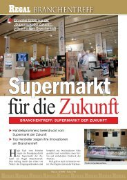 """""""Supermarkt der Zukunft"""", präsentiert am Branchentreff ... - Regal"""