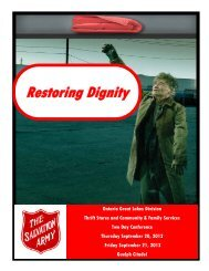 Speakers - The Salvation Army in Canada