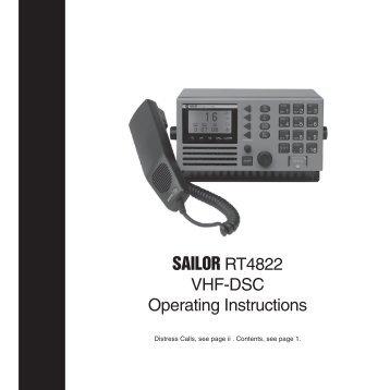 SAILOR RT4822 VHF-DSC Operating Instructions