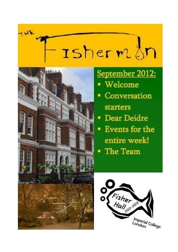 September 2012: Welcome Conversation starters Dear Deidre ...