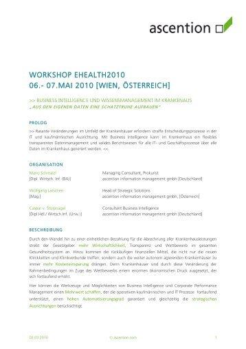 WORKSHOP EHEALTH2010 06.- 07.MAI 2010 [WIEN,