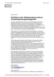 FlowFact on Air: Radiosendung rund  um ... - FlowFact AG