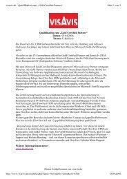 Dieser Artikel kommt von visavis.de Qualifikation zum ... - FlowFact AG