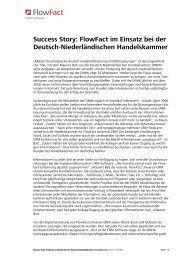 Success Story: FlowFact im Einsatz bei der Deutsch ... - FlowFact AG