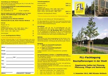FLL-Fachtagung Baumpflanzungen in der Stadt