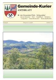 Gemeinde-Kurier - Gemeinde Floh-Seligenthal