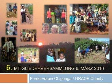 Mitgliederversammlung 2010 - Förderverein Chipunga