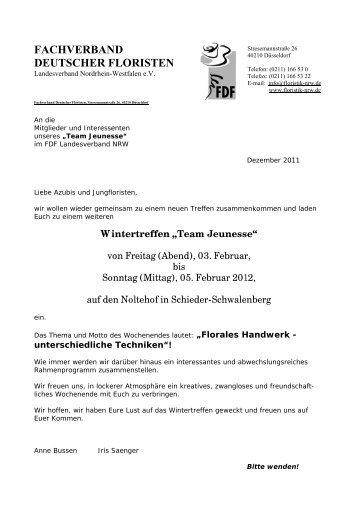 """Wintertreffen """"Team Jeunesse"""" - Fachverband Deutscher Floristen ..."""