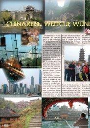 China-Reise: Welt-Cup, Wunder und