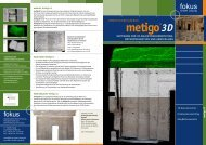 Prospekt metigo 3D (pdf; 5094 kb) - fokus GmbH Leipzig
