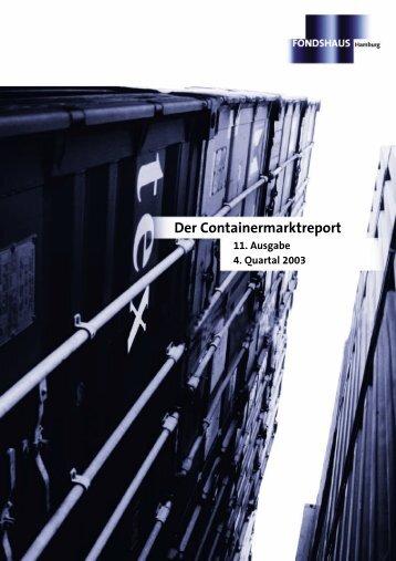 Containermarktreport 4. Quartal 2003 - Fondshaus Hamburg