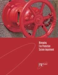 Managing Fire Protection System Impairment - FM Global