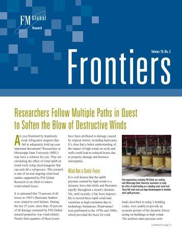 Frontiers Vol 16 No.3 2002 - FM Global