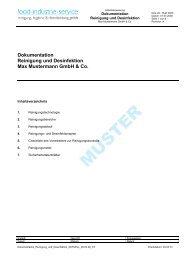 Dokumentation Reinigung und Desinfektion Max Mustermann GmbH