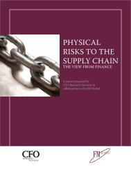 Physical Risks to the Supply Chain - FM Global