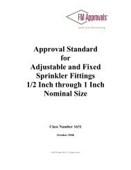 Approval Standard 1631 - FM Global