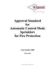 Approval Standard 2000 - FM Global