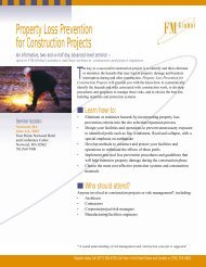 Property Loss Prevention for Construction Projects - FM Global
