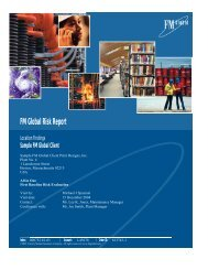 FM Global Risk Report