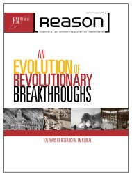 Reprint Article: Evolution of Revolutionary Breakthroughs -  FM Global