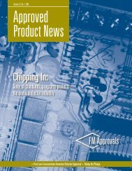 Approved Product News -- Vol. 22, #1 - FM Global