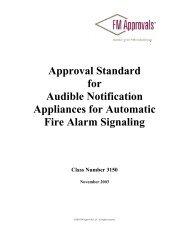 Approval Standard 3150 - FM Global