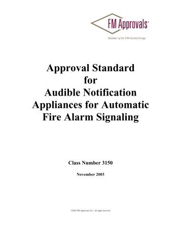 Approval Standard 3150 - FM Global