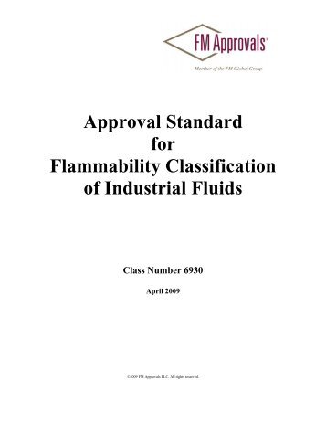 Approval Standard for Flammability Classification of ... - FM Global