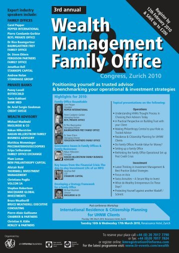 Wealth Management & Family Office - Henley & Partners